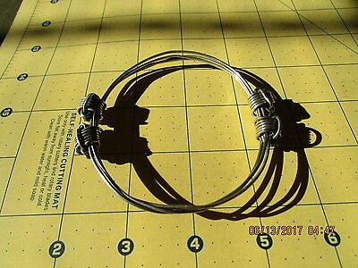 four or 4 knot African Elephant hair style Bracelet sterling  silver