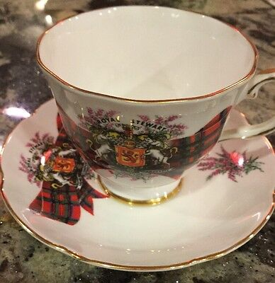 Vintage Royal Grafton Royal Stewart Fine Bone China Cup & Saucer Scotland