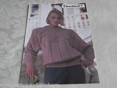 Thorobred Knitting book No. 1398 Double crepe 8ply Patterns Women Warm Jumpers
