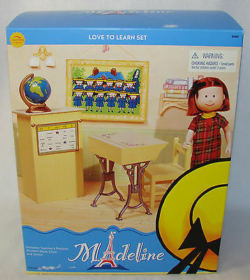 """Madeline 8"""" Dollhouse LOVE TO LEARN School Set Very RARE New in Sealed Box!!"""