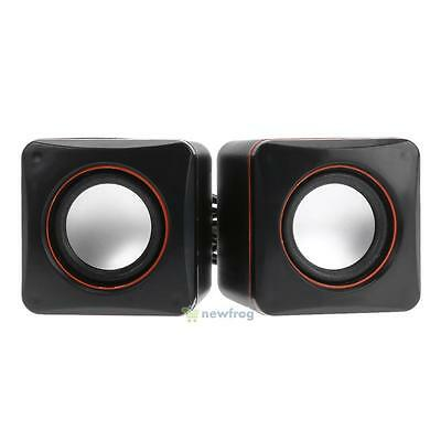 USB 2.0 Portable Mini Audio Speaker Music Playe Subwoofer for Laptop Desktop PC