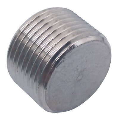 US Stock 1pc 304 Stainless Steel 3/4 NPT Hex Head Pipe Plug Fitting 3/4""