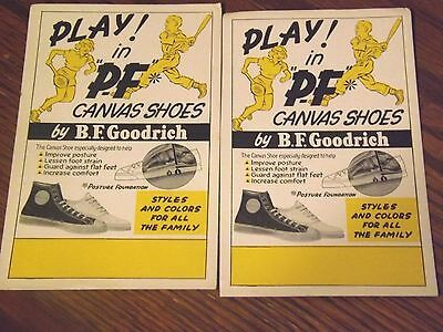 2 The Same Paly In PF Canvas Shoes by B.F. Goodrich Ink Blotters