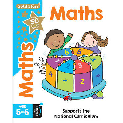 Gold Stars Maths - Ages 5-6 Key Stage 1 (Paperback), Children's Books, Brand New