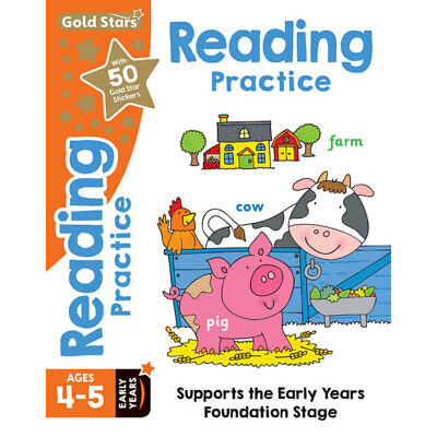 Gold Stars Reading Practice - Ages 4-5 Early Years, Children's Books, Brand New