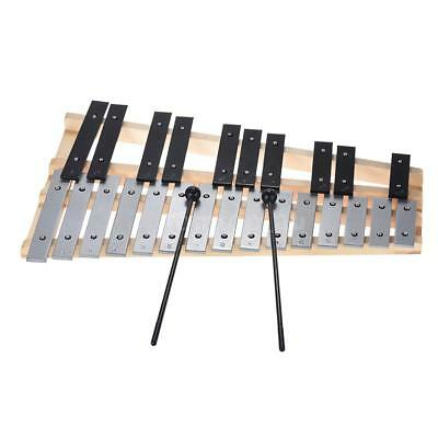 25 Notes Full Chromatic Xylophone Glockenspiel Percussion Gift for Kids F8W5