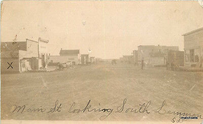 C-1910 LEMMON SOUTH DAKOTA Street Scene RPPC Real Photo postcard 1323