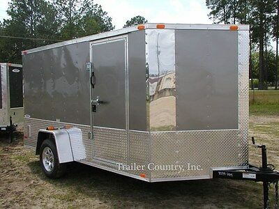 NEW 2017 6x12 6 X 12 V-Nosed Motorcycle Enclosed Cargo Trailer