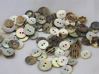 50  RARE PINK RAINBOW  East Asian  ABALONE SHELL  BUTTONS