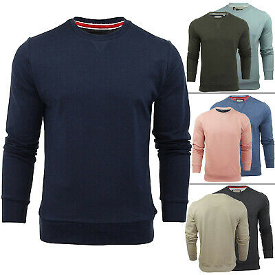 Mens Sweatshirt Fleece Causal Shirt Long Sleeve Pullover Fitted Jumper Plain Top