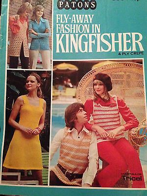 Patons VINTAGE KNITTING & CROCHET PATTERN Booklet Fly-Away Fashion Ladies Mens