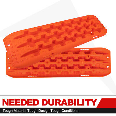 FieryRed 2pcs Recovery Traction Offroad Orange Sand Track Truck Tire Snow Ladder