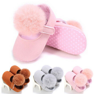 Hair Ball Shoes Newborn-18 M Baby Girls Shoes Infant Toddler Soft Crib Shoes