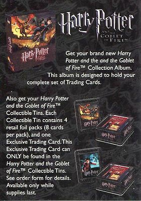 Harry Potter Goblet Of Fire Collectible Tin Order Form Card