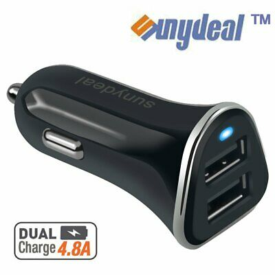 4.8A Dual USB Port Universal Fast Cigarette Lighter Car Charger for Cell Phone