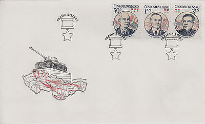 CZECHOSLOVAKIA FDC: 1983 WW2 Liberation Anniversary + Prague Special Cancel