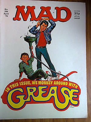MAD, No 204, UK Issue, April 1979, Grease and Three's Company