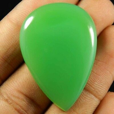 Chrysoprase Chalcedony 66.00 Cts Pear Shape Nice Quality Gemstone Loose Cabochon