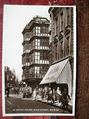 Dutch House, Wine Street, Bristol. Real Photo Old Postcard