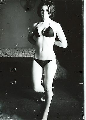 Photo Vintage ,  Pin-Up Brune, Charme , Hubert Toyot , 1969