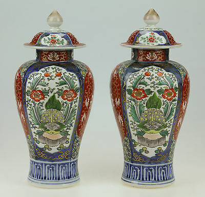VERY FINE PAIR OF ANTIQUE 19thC JAPANESE IMARI PORCELAIN VASES