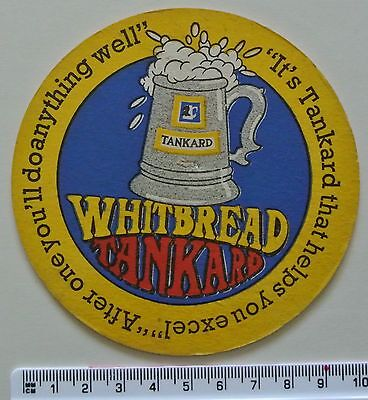 Vintage Beer Mat (Coaster) 'Whitbread Tankard'