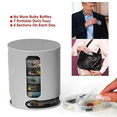 7 Day Pill Wallet Medication Box Organiser Holder Storage Travel Pill Dispenser