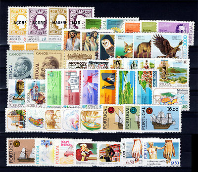 1980 Portugal Complete Year MNH Stamps.