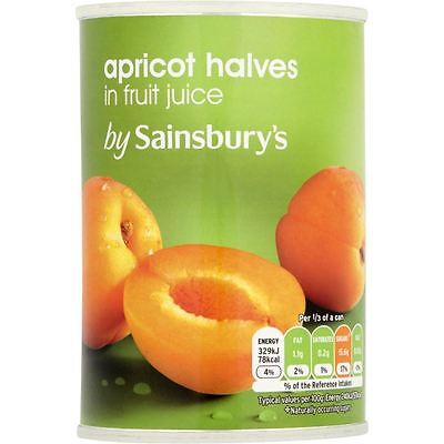 Sainsbury's Apricot Halves In Fruit Juice 411g