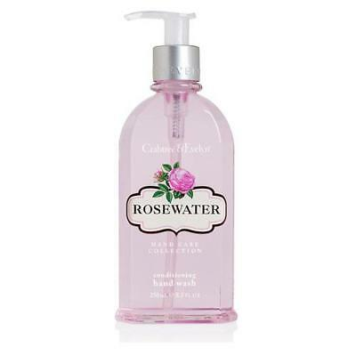Crabtree & Evelyn Rosewater 250ml Hand Wash Pump Dispenser FREE P&P