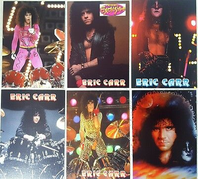 KISS / ERIC CARR Commemorative PROMO CARD SET of 6  year 2001