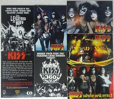KISS Binder Card / Promo Card lot of 6 includes RARE P3 from Series 2
