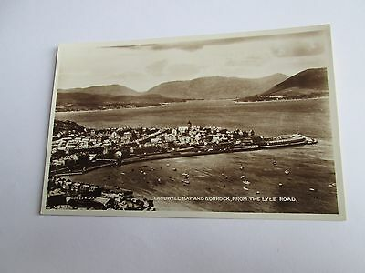 Postcard of Cardwell Bay and Gourock, from the Lyle Road (unposted RP)