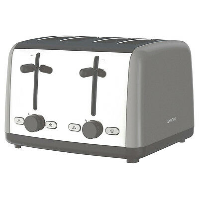 New Kenwood TTM480GY 4 Slice Toaster Grey 1800W Adjustable Browning Control