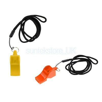 2pcs Plastic Emergency Survival Whistle Safety Kayaking Marine Camping Gear