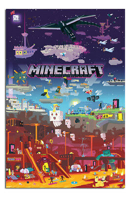 Minecraft World Beyond Poster New - Maxi Size 36 x 24 Inch