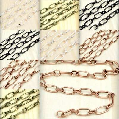 2M 6.56 feet Double Curb Chain Unfinished Chains Jewelry Necklaces 7.8x6.5x0.8mm