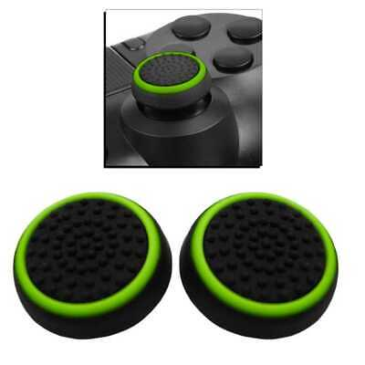 2x Grips Thumb Stick Cover Grip Caps for PS4/Slim/Pro Xbox One Controller Green
