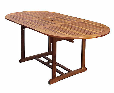 Charles Bentley Hardwood Furniture Large Oval Extendable & Foldable Table