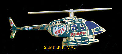 Mountain Dew Kiis Fm Helicopter Hat Pin Tie Tac Helo Pilot Crew Wing Gift Wow