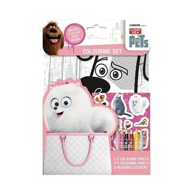 The Secret Life Of Pets Colouring Set & Stickers Children's Party Bag Stocking