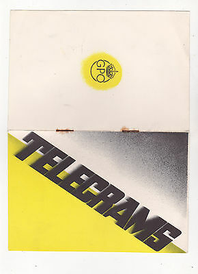 """Post Office Telegraph Leaflet, """"telegrams A New Service"""", C. 1930's?"""