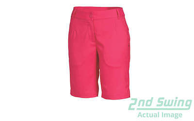 New Womens Puma Golf Solid Tech Bermuda Shorts Size 4 Raspberry MSRP $65