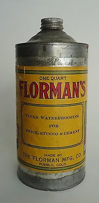 Vintage One Quart Cone Top Tin Can * Florman's  Pueblo CO * Indian Chief