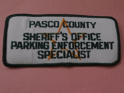 Parking Enforcement Specialist Pasco County Sheriff's Office New Iron-On Patch