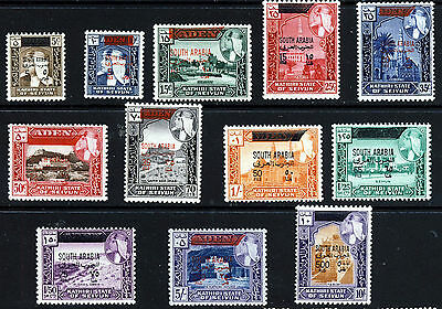 ADEN SOUTH ARABIAN FEDERATION 1966 New Currency Surcharge Set SG 42 to SG 55 MNH