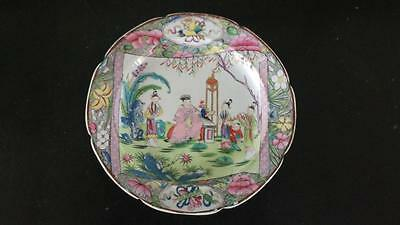Very Rare Regency Mason's Chinese Scroll Small Plate C 1813+