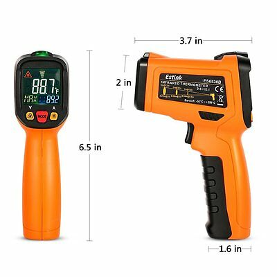 Non-Contact Digital Laser IR Infrared Thermometer Temperature Gun Cooking Indust