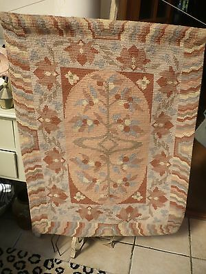 "Vintage large stunning wall tapestry depicting tree of life muted colours 30""/42"