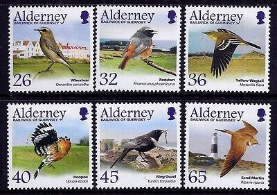 Alderney 2004 Birds - Passerines set fine fresh MNH